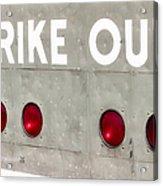 Fenway Park Strike - Out Scoreboard  Acrylic Print
