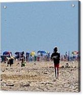 Beach Scene - Fenwick Island Delaware Acrylic Print