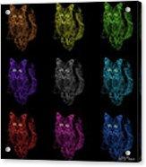 Feral Cat Pop Art - 9905 F M - Bb Acrylic Print