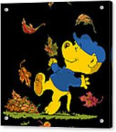 Ferald Dancing Amongst The Autumn Leaves Acrylic Print