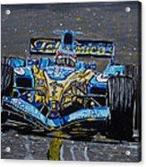 Fernando Alonso In Blue Acrylic Print