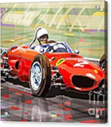 Ferrari 156 Dino British Gp1962 Phil Hill Acrylic Print
