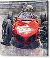 Ferrari 156 Sharknose Phil Hill Monaco 1961 Acrylic Print