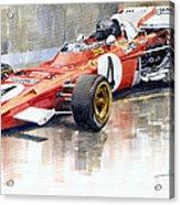 1971 Ferrari 312 B2 1971 Monaco Gp F1 Jacky Ickx Acrylic Print