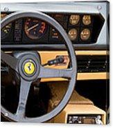 Ferrari 3.2 Mondial Cabriolet Interior Acrylic Print