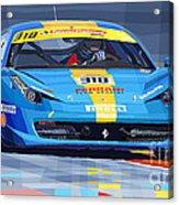 2012 Ferrari 458 Challenge Team Ukraine 2012 Acrylic Print