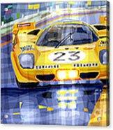 Ferrari 512 S Spa 1970 Derek Bell  Acrylic Print by Yuriy  Shevchuk