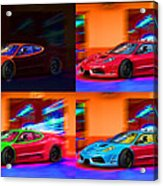 Ferrari Collage Acrylic Print