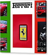 Ferrari Collage On Italian Flag Acrylic Print