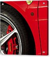 Ferrari Emblem 3 Acrylic Print by Jill Reger