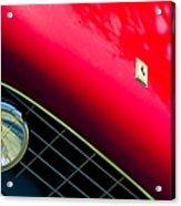 Ferrari Grille Emblem - Headlight Acrylic Print