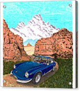 1969 Ferrari 365 G T C In The Mountains 1969 365 G T C Acrylic Print