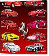 Ferrari Poster Art Acrylic Print by Jack Pumphrey