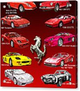 Ferrari Sports Car Poster  Acrylic Print