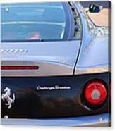 Ferrari Rear Emblem - Taillights -0089c Acrylic Print