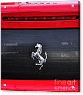Ferrari - Rear Grill And Stallion Badge Acrylic Print