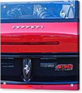 Ferrari Scuderia 430 Rear Emblems Acrylic Print
