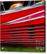 Ferrari Testarossa Red Acrylic Print