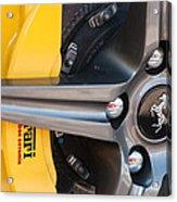 Ferrari Wheel - Brake Emblem Acrylic Print