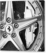 Ferrari Wheel Emblem Acrylic Print