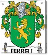Ferrell Coat Of Arms Longford Ireland Acrylic Print