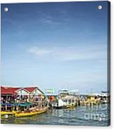 Ferries At Koh Rong Island Pier In Cambodiaferries At Koh Rong I Acrylic Print