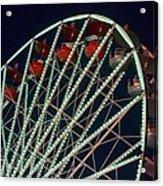 Ferris Wheel After Dark Acrylic Print