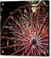 Ferris Wheel And Fireworks Acrylic Print
