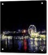 Ferris-wheel At The River Acrylic Print