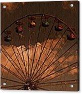 Ferris Wheel At Twilight Acrylic Print