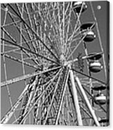 Ferris Wheel In Black And White Acrylic Print