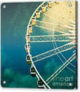 Ferris Wheel Old Photo Acrylic Print
