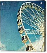 Ferris Wheel Retro Acrylic Print