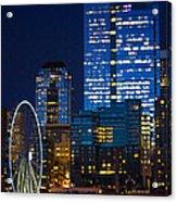 Ferris Wheel Seattle Harbor Acrylic Print