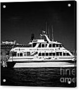 Ferry And Dock At Fort Jefferson Dry Tortugas National Park Florida Keys Usa Acrylic Print by Joe Fox