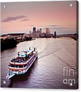Ferry Boat At The Point In Pittsburgh Pa Acrylic Print