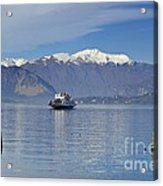 Ferry Boat On An Alpine Lake Acrylic Print