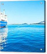 Ferry Boat On Port Acrylic Print