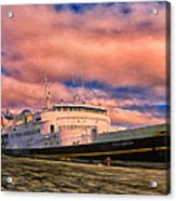 Ferry Dockside At Cold Bay Acrylic Print