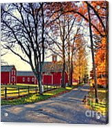Ferry Lane November Sunset Acrylic Print