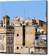 Fes Cityscape In Morocco Acrylic Print