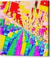 Festa In Cita Acrylic Print by Halina Nechyporuk