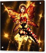 Festive Amber Fairy Acrylic Print