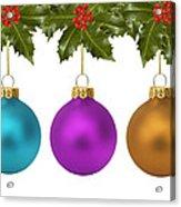 Festive Christmas Baubles Acrylic Print