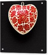 Festive Heart Acrylic Print