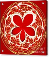 Festive Star Bauble Orb Acrylic Print