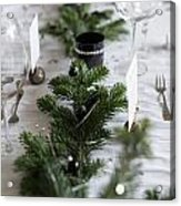 Festive Xmas Table Acrylic Print
