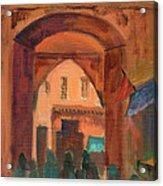 Fez Town Scene Acrylic Print