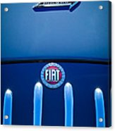 Fiat 750 Mm Zagato Panoramica Coupe Grille Emblem Acrylic Print