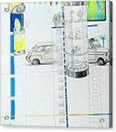 Fiat Cinquecento Acrylic Print